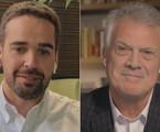 Governador Eduardo Leite e Pedro Bial   TV Globo