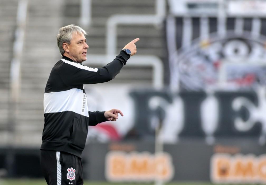 Tiago Nunes, técnico do Corinthians, na semifinal contra o Mirassol — Foto: Rodrigo Coca / Ag.Corinthians