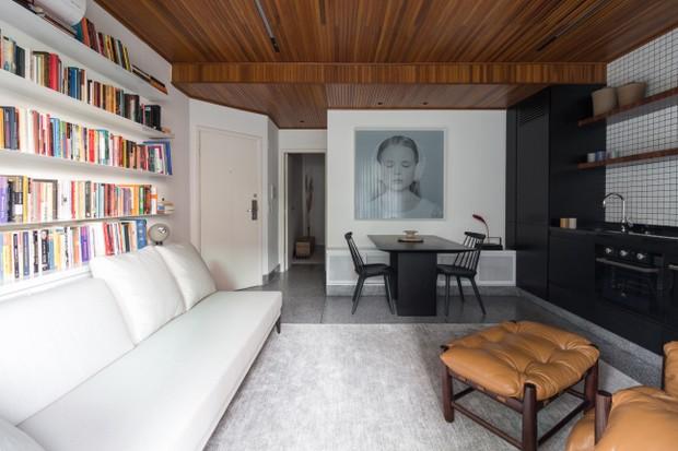 Um apê de 42 m² bem resolvido e com muito estilo  (Foto: Dentro Fotografia)