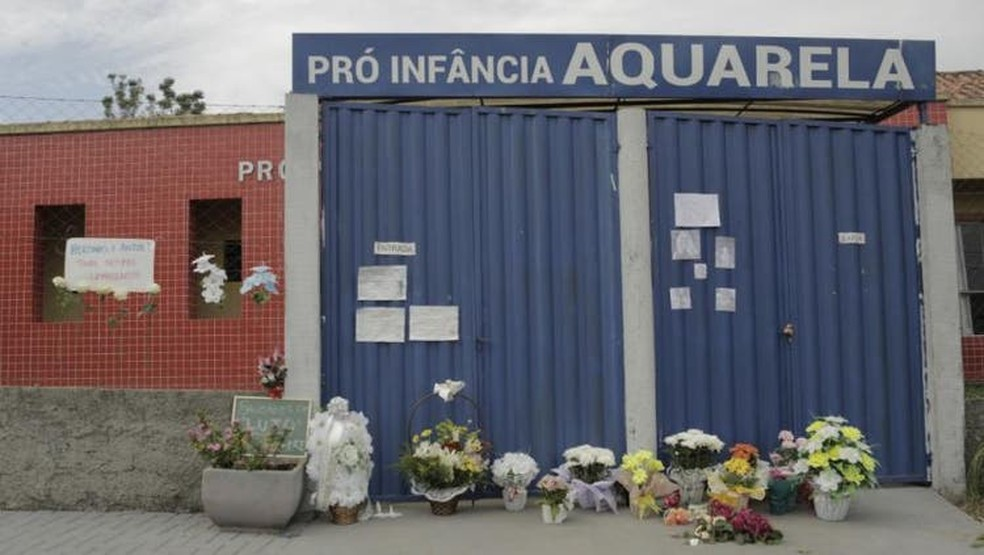 Ataque a creche deixou cinco mortos, sendo três crianças de menos de dois anos — Foto: Sirli Freitas/ NSC