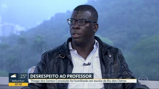 Professor agredido no RJ diz que não teve apoio após denunciar o caso