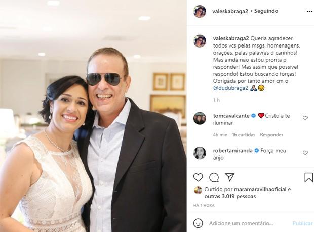 Valeska Braga, viúva de Dudu Braga, fala pela primeira vez após morte do marido (Foto: Reprodução/Instagram)