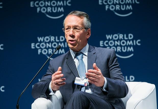 Candido Bracher, presidente-executivo do Itaú Unibanco, durante o Fórum Econômico Mundial América Latina (Foto: World Economic Forum / Benedikt von Loebell)