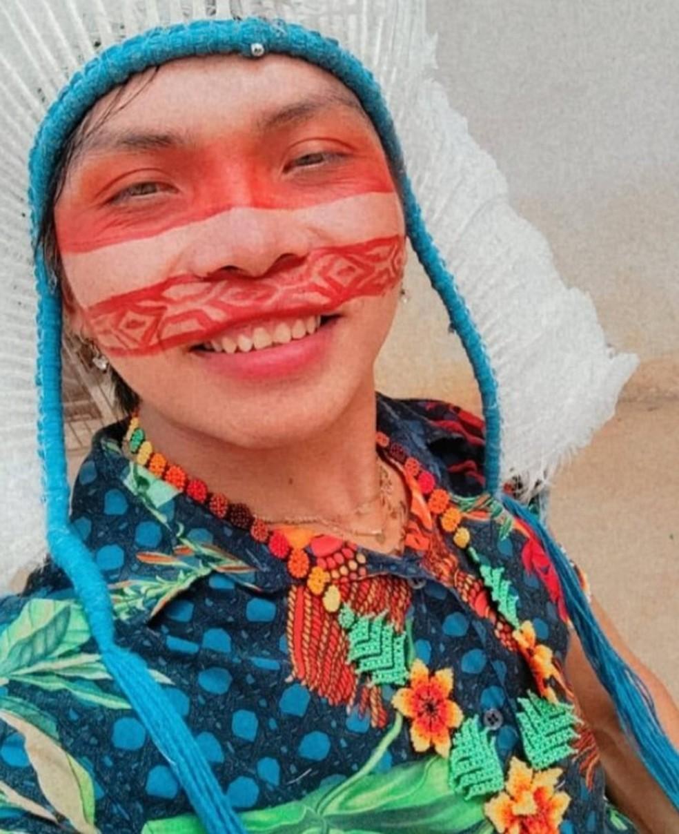 Kupi Poderosa diz que tem orgulho de ser indígena — Foto: Reprodução