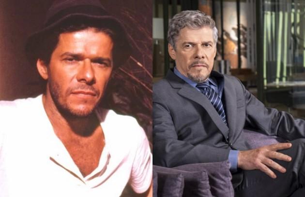 José Mayer interpretou Osnar, ex-amante de Tieta. Atualmente, o ator está no ar como o vilão Tião de 'A lei do amor' (Foto: TV Globo)