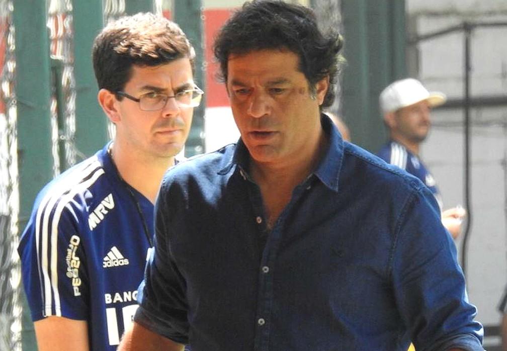 Raí durante treinamento do São Paulo no CT da Barra Funda — Foto: Marcelo Hazan