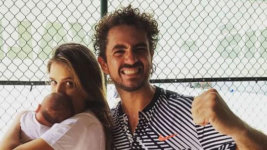 Felipe Andreoli fala da paixão do filho por futebol: 'Assiste jogo como se fosse desenho'
