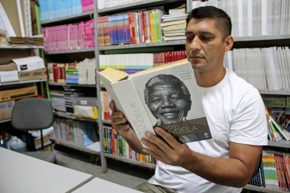 Fátimo Pedroso Ortiz, de 38 anos, também participou do grupo de estudos — Foto: Fabio Rodrigues/G1