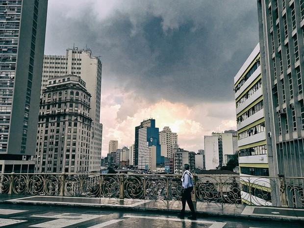 Chuva atinge o centro de São Paulo (Foto: Diego Torres Silvestre / Flickr)
