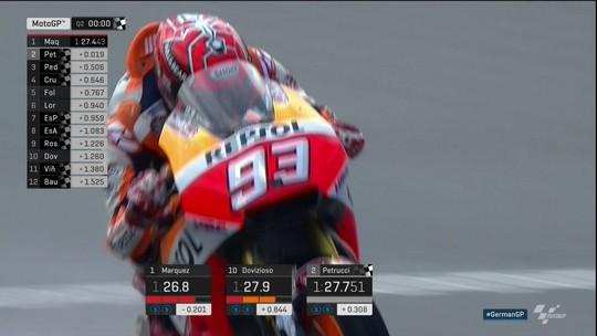 Márquez mantém domínio e faz oitava pole consecutiva no GP da Alemanha