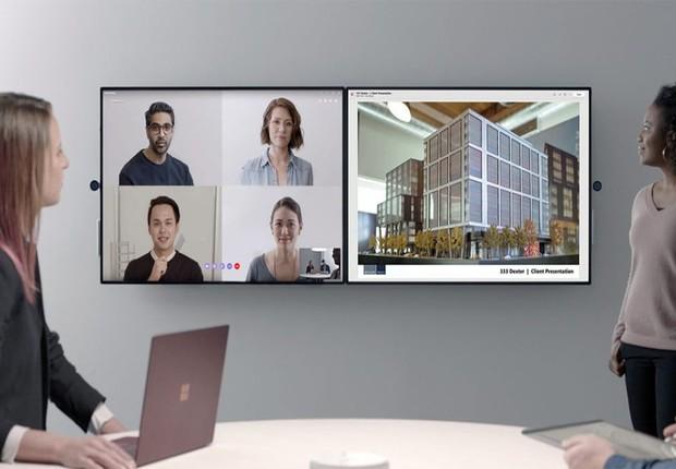 O Microsoft Surface Hub 2 é ideal para trabalhar em equipa