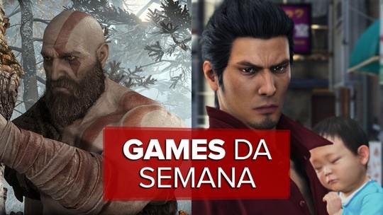 'God of War' e 'Yakuza 6' são principais games da semana; G1 comenta em VÍDEO