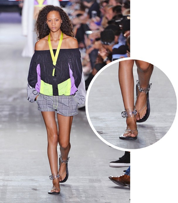 Papetes no desfile spring-summer de Alexander Wang (Foto: Getty Images)