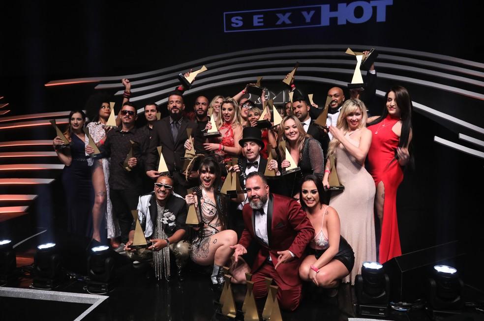 Os vencedores do Prêmio Sexy Hot 2019 — Foto: Celso Tavares/G1