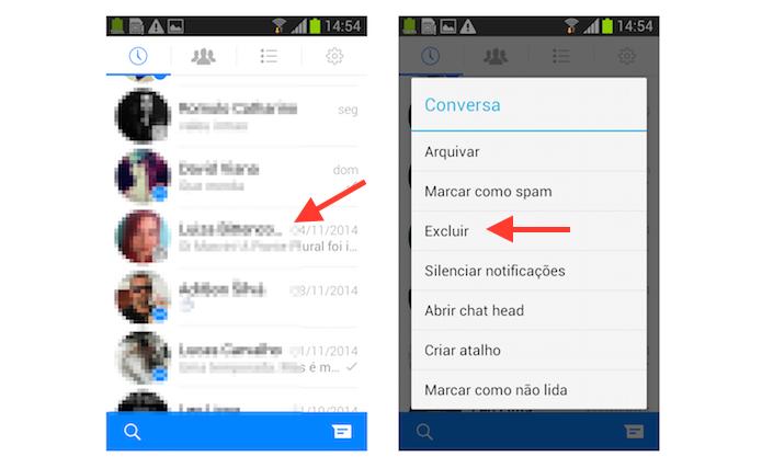 Tudo sobre o Facebook Messenger sobre as conversas - arquivar marcar como spam