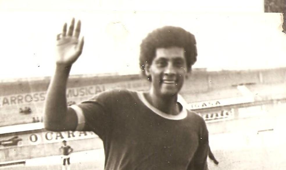 Joãozinho Paulista é o maior ídolo e artilheiro da história do CRB, com 190 gols marcados — Foto: Arquivo / Museu dos Esportes