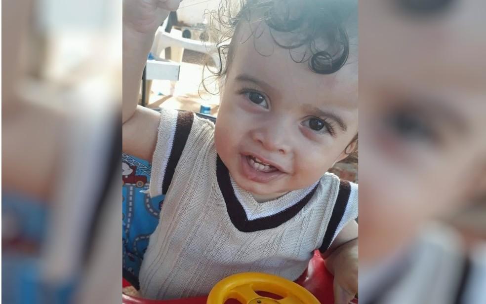 Miguel Tayler Pereira Gualberto morreu afogado em piscina em Planaltina, Goiás — Foto: Reprodução/TV Anhanguera