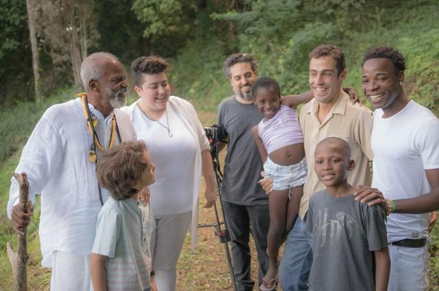 A equipe do clipe 'Sede de paz' (Foto: Thiago Cardoso)
