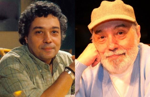 Pedro Paulo Rangel viveu Audálio, o irmão de Aldeíde (Lilia Cabral). Sempre bem-humorado, foi apelidado de Poliana. O último papel do ator na TV foi em 2017, na série 'Prata da casa', da Fox. Ele está no ar na reprise de 'Belíssima', na Globo (Foto: Bazilio Calazans/TV Globo e Marcos Ramos)