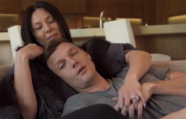 Nick Carter e a mulher (Foto: Reprodução)