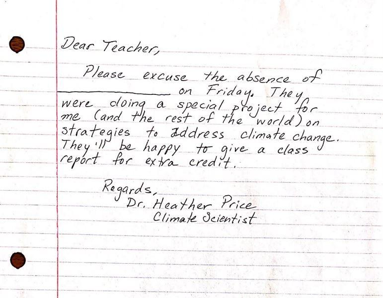 Cientistas fazem carta para estudantes levarem às escolas como justificativa em dia de greve pelo clima - Notícias - Plantão Diário