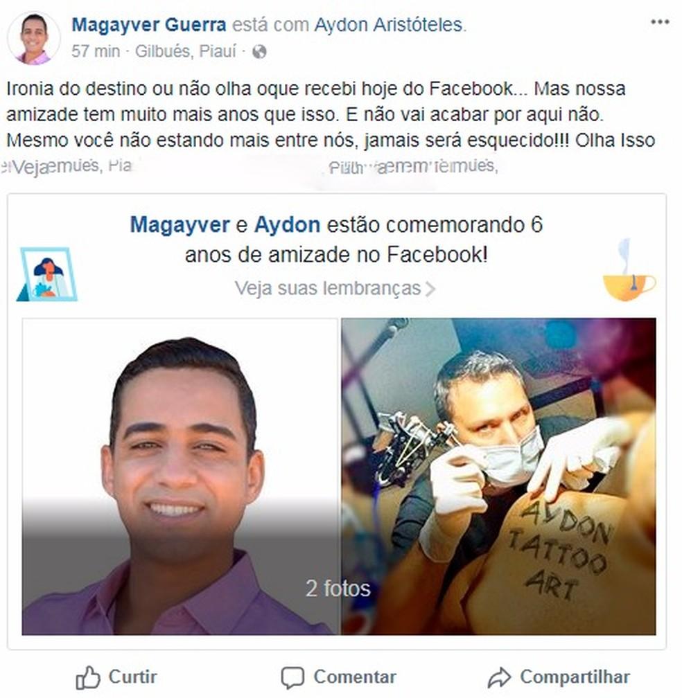 Amigo lamentou a morte do policial nas redes sociais (Foto: Reprodução/Facebook)