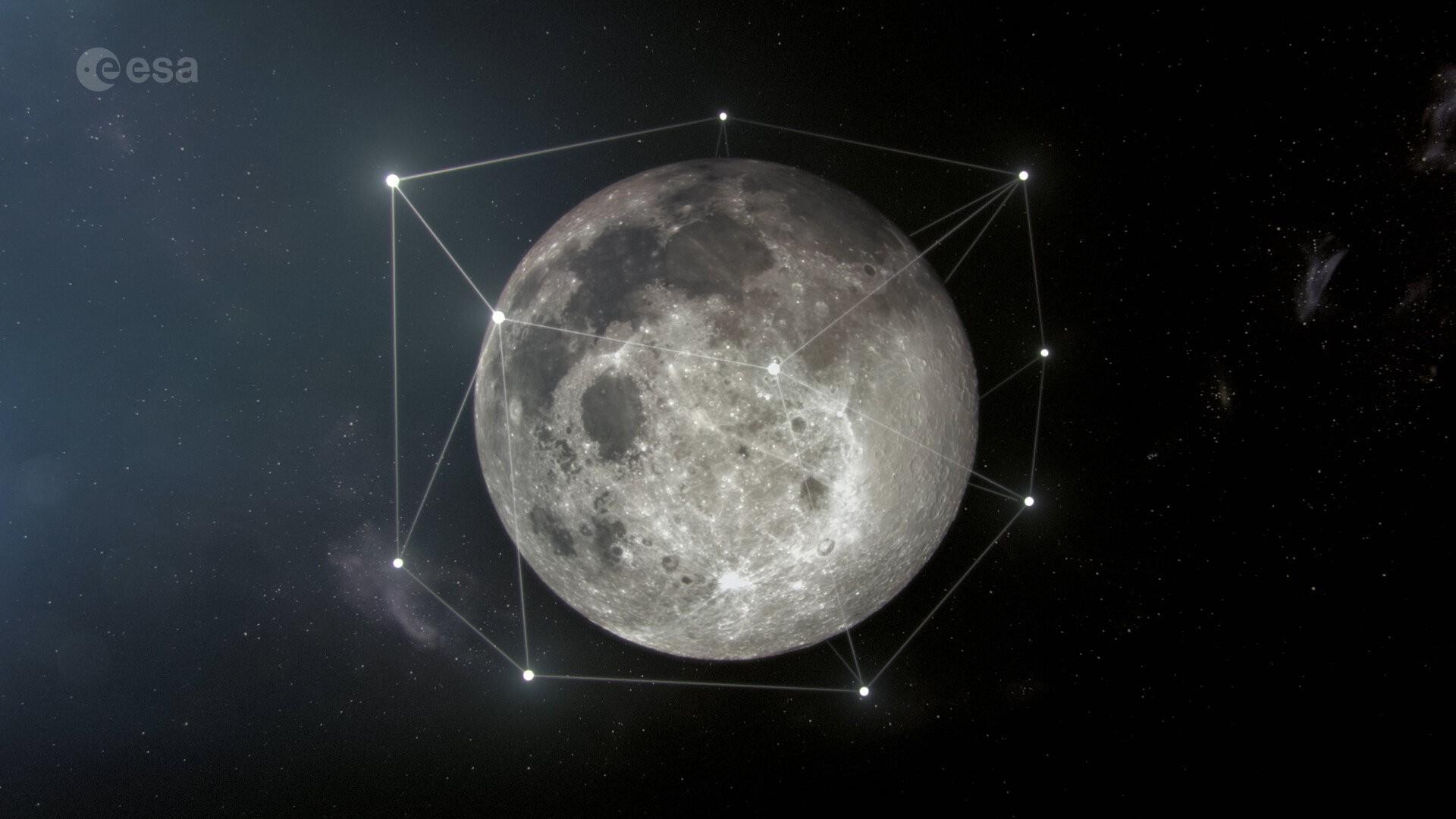 A Agência Espacial Europeia (ESA) planeja colocar satélites na Lua para ajudar em futuras missões lunares (Foto: ESA)