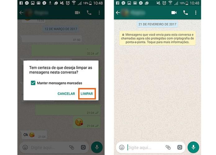 Apague a conversa com seu amigo ou grupo no WhatsApp (Foto: Reprodução/Barbara Mannara)