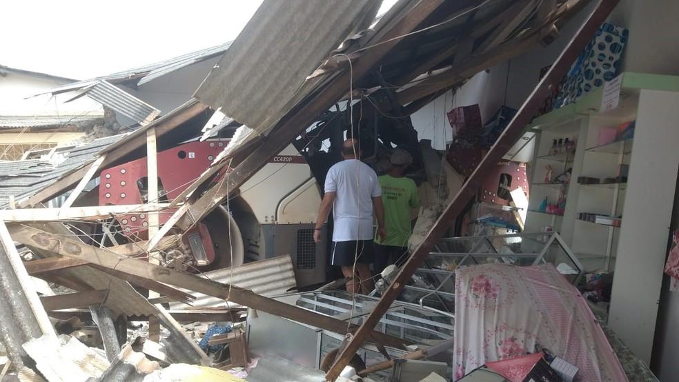 Gestante, de sete meses, foi atingida pelos escombros — Foto: Arquivo Pessoal