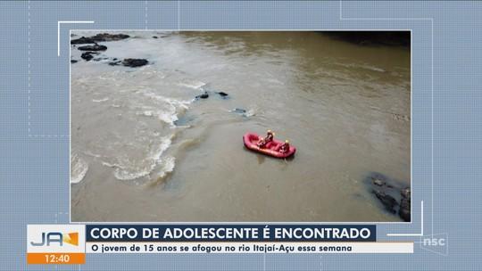 IML confirma que corpo encontrado no Rio Itajaí-Açu em Blumenau é de adolescente gaúcho