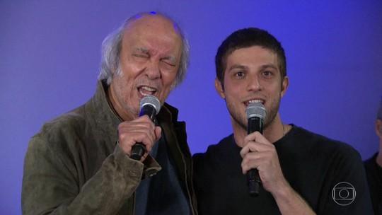 Chay Suede e Erasmo Carlos cantam e falam sobre filme 'Minha Fama de Mau'