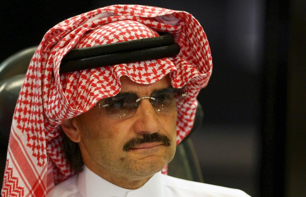 Al-Waleed bin Talal, príncipe saudita em conferência em Riad (Foto: Fahad Shadeed/Reuters/File Photo)