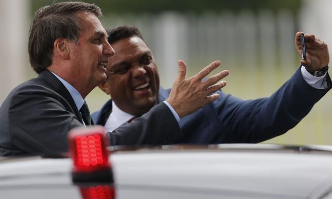 O deputado federal Otoni de Paula (PSC-RJ) ao lado do presidente Bolsonaro