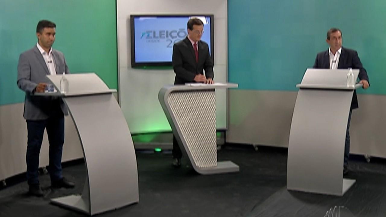 Caio Cunha e Marcus Melo, candidatos a prefeito de Mogi, participam de debate