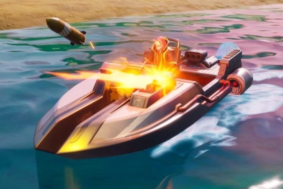 Motorboat, o veículo aquático disponível em Fortnite (Foto: Divulgação)