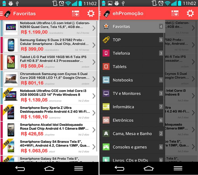ehPromoção é um app que divulga promoções de diversas lojas brasileiras (Foto: Divulgação/ehPromoção)