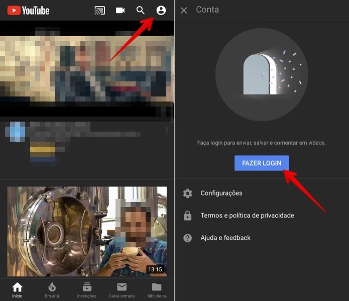 Faça login na sua conta do Google (Foto: Reprodução/Helito Beggiora)
