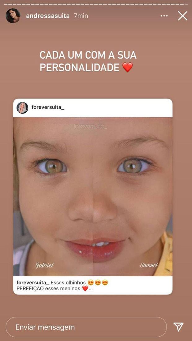 Post de Andressa Suita (Foto: Reprodução / Instagram)