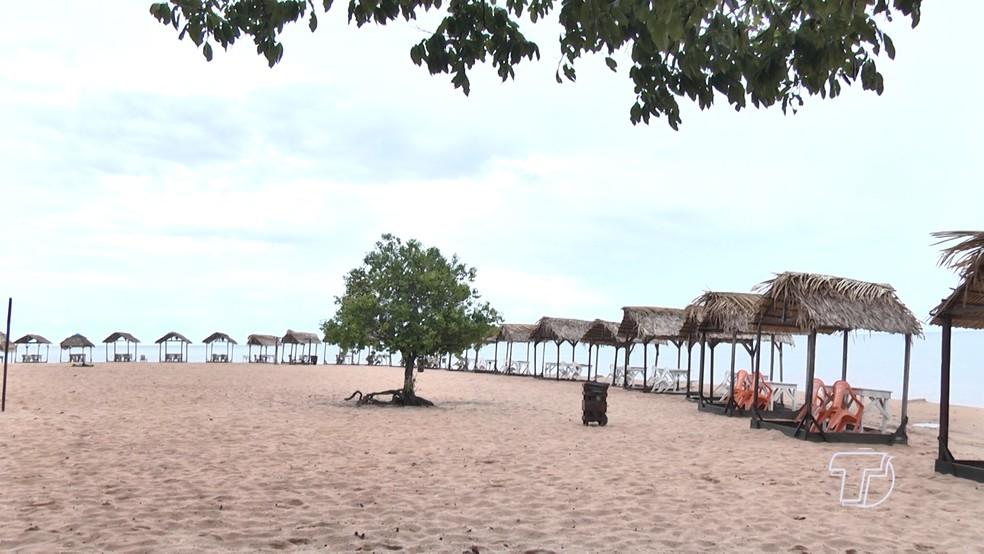 Praia do Pindobal — Foto: Reprodução/TV Tapajós