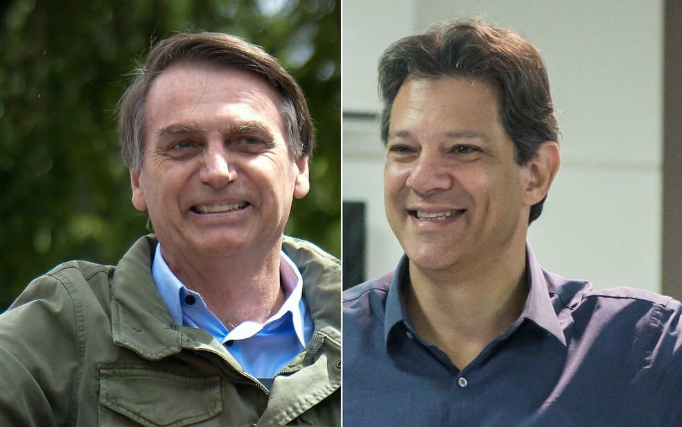 Bolsonaro e Haddad — Foto: Thiago Ribeiro/AGIF/Estadão Conteúdo; Alice Vergueiro/Estadão Conteúdo