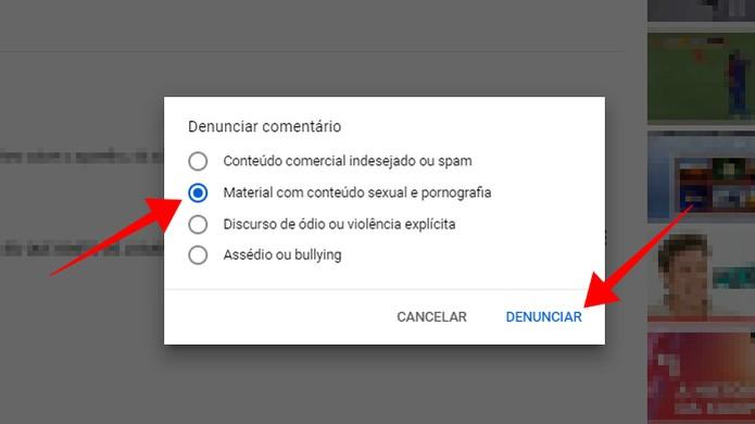 Marque um tipo de denúncia e envie (Foto: Reprodução/Paulo Alves)