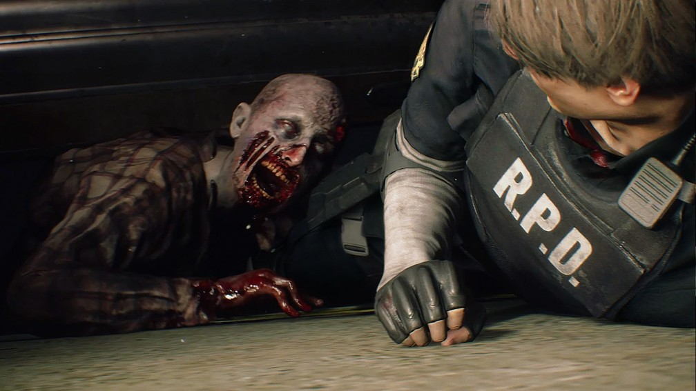 Cena do remake de 'Resident Evil 2' — Foto: Divulgação/Capcom