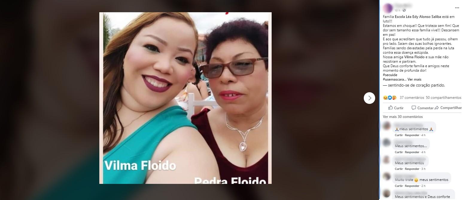 Mãe e filha morrem de Covid-19 com diferença de um dia em Sorocaba