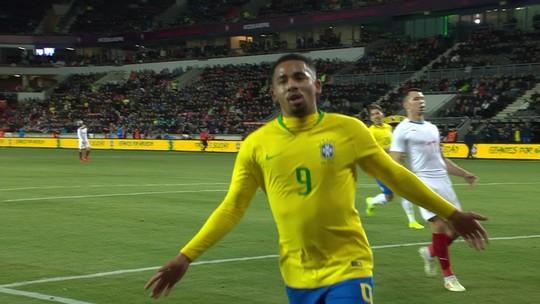 Veja os gols da vitória do Brasil sobre a República Tcheca por 3 a 1