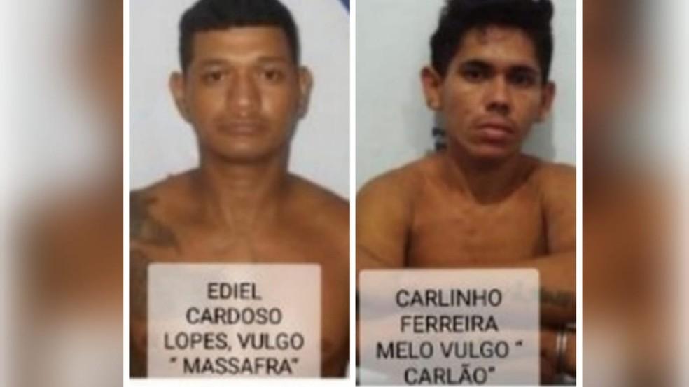 'Massafra' e 'Carlão' fugiram da penitenciária de Santarém na semana passada — Foto: Susipe/Divulgação