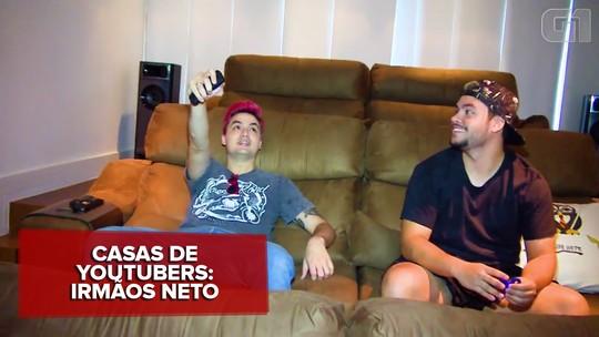 Irmãos Neto, Felipe e Luccas Neto mostram nova mansão no Rio, uma 'fábrica de sonhos' de vídeos