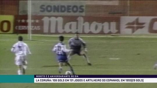 Relembre o dia em que Bebeto anotou hat-trick pelo La Coruña contra o Real Madrid