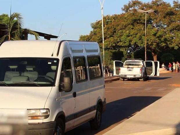 Veículo utilizado na fuga dos criminosos em Riachão (MA) (Foto: Flávio Aires)