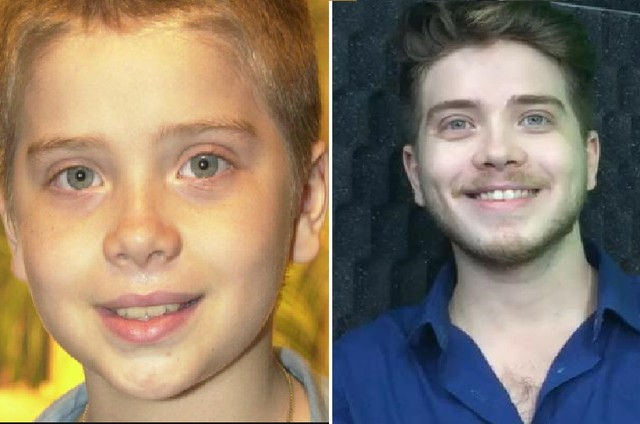 Pedro Malta na infância em 'Kubanacan' e aos 26, fase atual (Foto: Reprodução e Acervo pessoal)