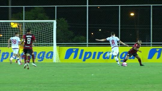 Os gols de Nacional-URU 3 x 0 Flamengo pela Copa RS de futebol sub-20
